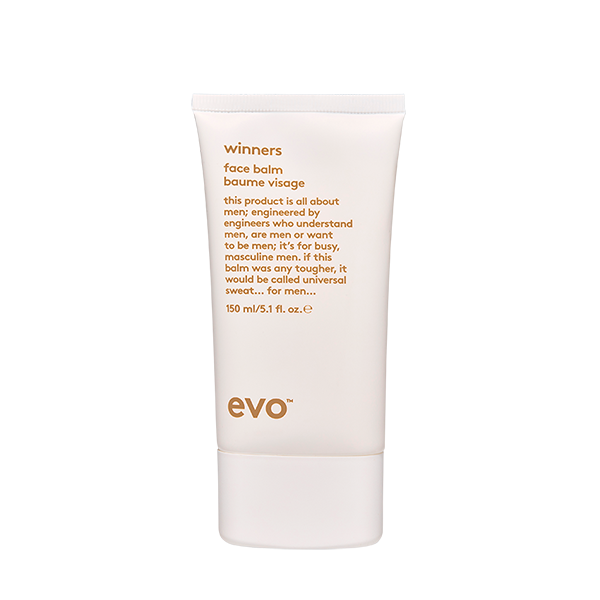 EVO Winners Face Balm 5.1 oz. vegan / cruelty free / made without sulfates, parabens or gluten. This lightweight, oil-free face moisturiser reduces redness, razor burn and tightness, while quickly absorbing and hydrating/conditioning skin.