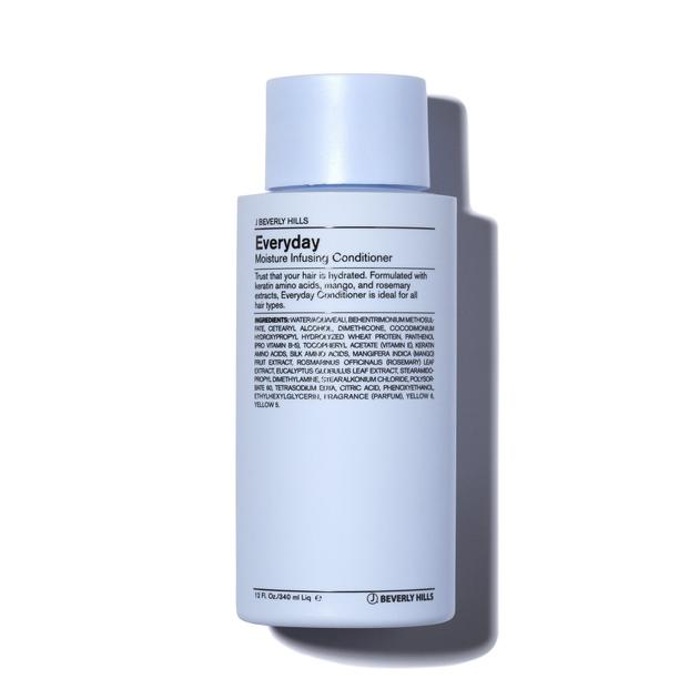 Shop J Beverly Hills Everyday Conditioner in Canada. An incredible conditioner for colour treated or dry hair. Everyday will hydrate and soften the hair and is gentle for every day use. Formulated with keratin amino acids, mango, and rosemary extracts, Everyday Conditioner is ideal for all hair types.