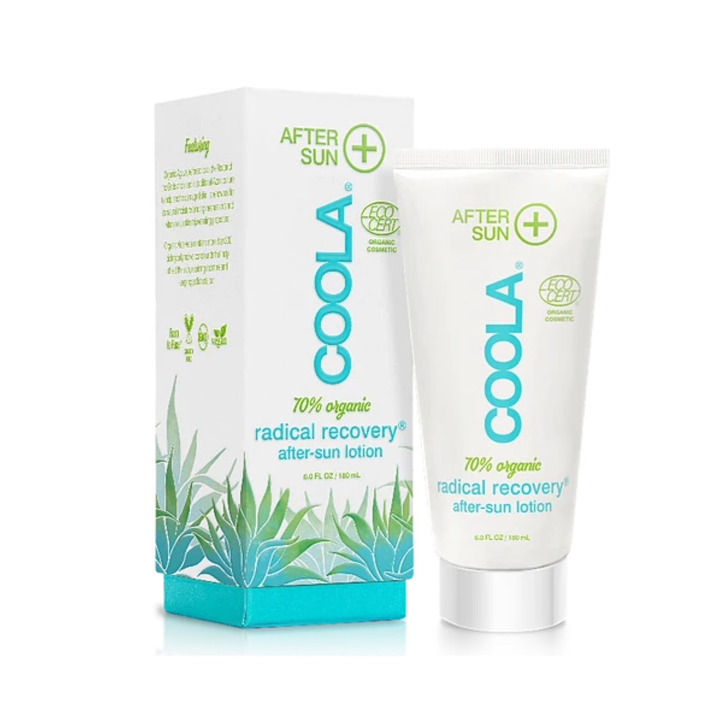 Shop Coola After Sun Radical Recovery lotion. Great for after-sun after spending the day at the beach. Sooths, moisturizes and calms red, irritated skin.