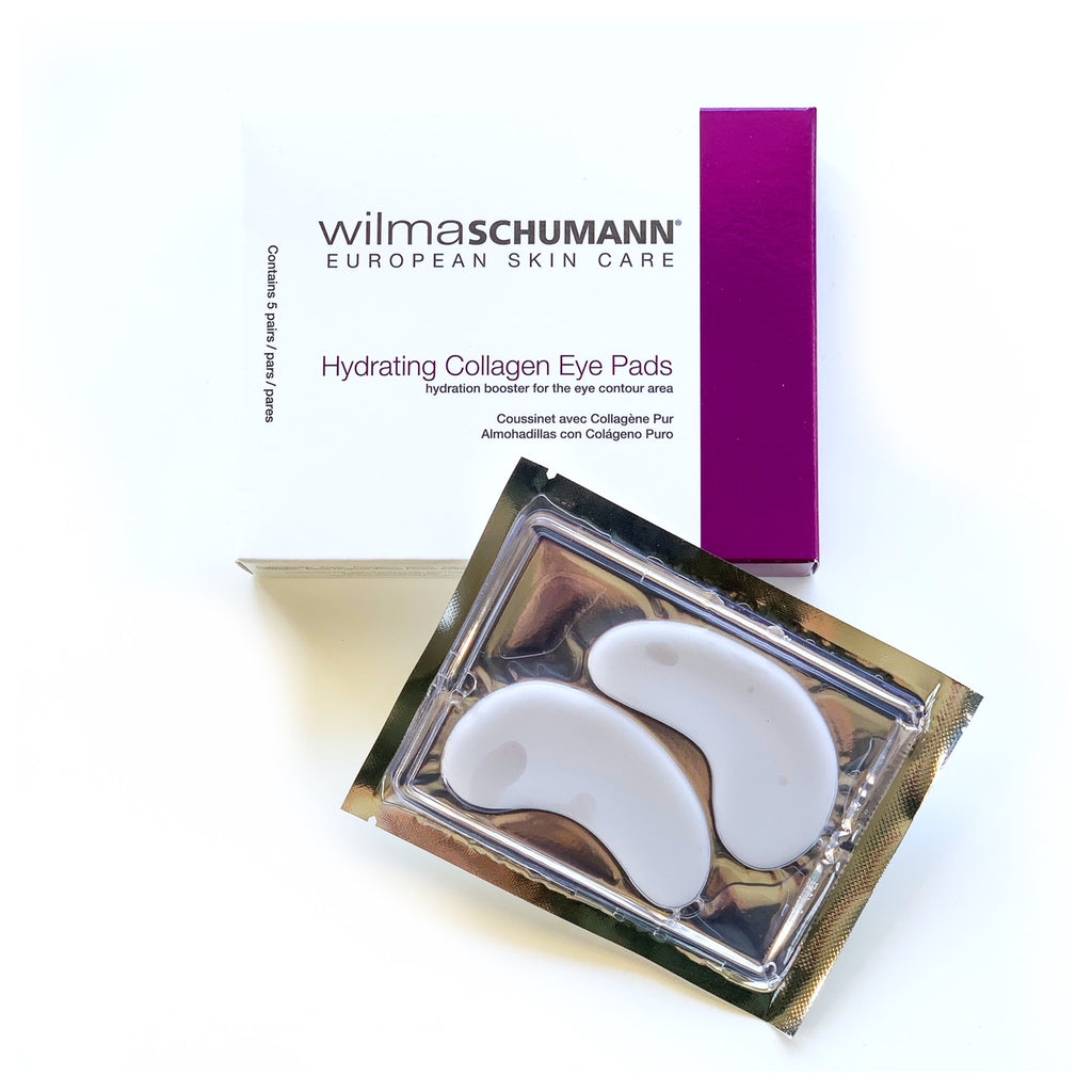 Shop Wilma Schumann Eye Pads in Canada. An intense, hydration-boosting treatment for the eye contour area with 100% pure collagen. Will visibly and effectively improve the appearance of fine lines and wrinkles and reduce puffiness. Contains soothing and hydrating ingredients. Clinically and Allergy Tested.