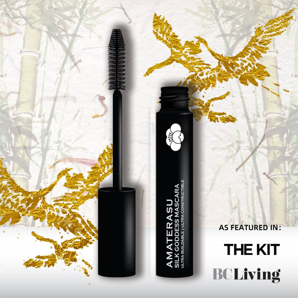 Amaterasu gives you the power to customize your lashes from a natural daytime look to a thick, sexy and sultry with our Silk Goddess Mascara. This mascara is destined to become your next beauty essential. The Silk Goddess Mascara is a remarkable formula created with cutting edge technology to instantly deliver thicker, fuller and softer lashes with up to 6 times your natural volume and length. It is smudge-proof, waterproof and paraben free.