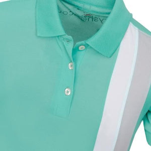 Girls' Polo Shirts Bobbi Striped Polo Shirt Mint - everyshotcounts