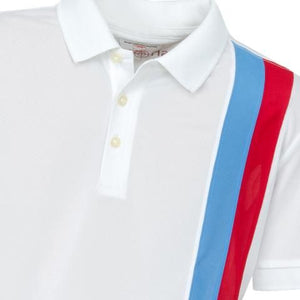 Boys' Polo Shirt, Gianni Striped Polo White - everyshotcounts