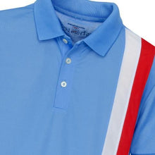 Boys' Golf Polo Shirt, Gianni Striped Polo Blue - everyshotcounts