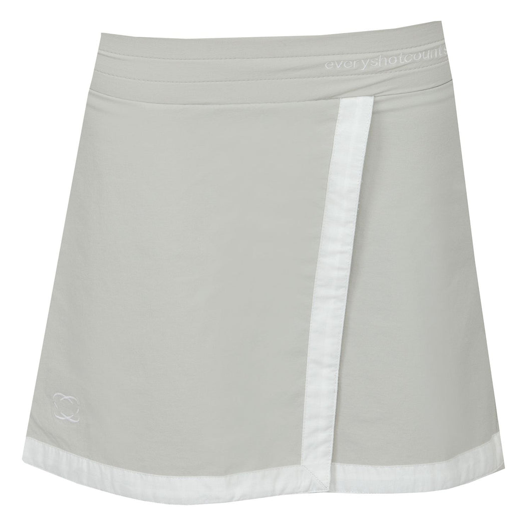 Girls Golf Skort Cool Grey, 'Gleneagles' - everyshotcounts