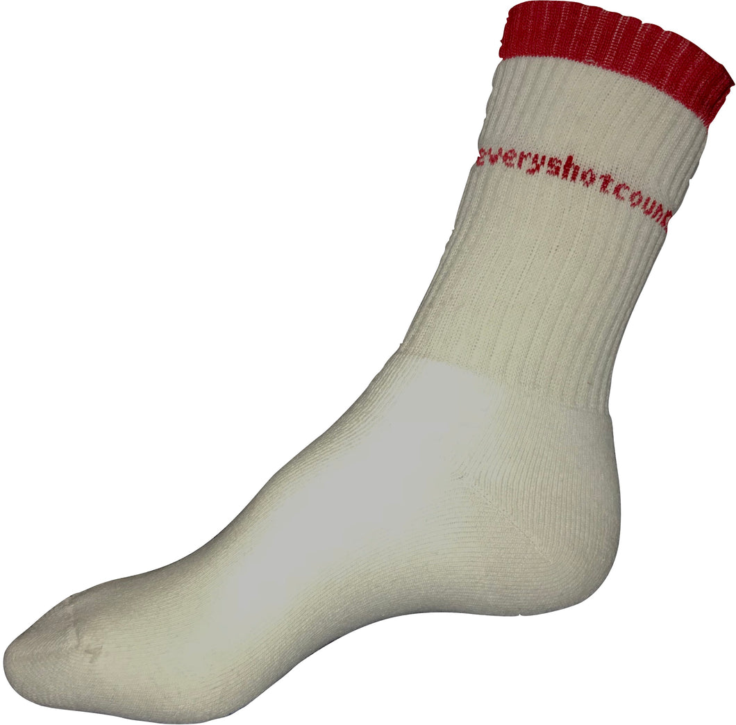 Socks, White, everyshotcounts junior sports socks - everyshotcounts
