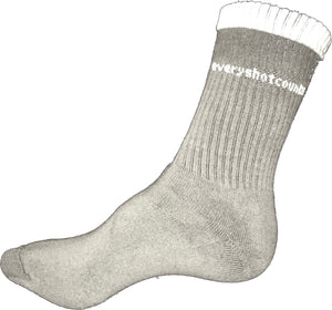 Socks, Grey, everyshotcounts junior sports socks - everyshotcounts