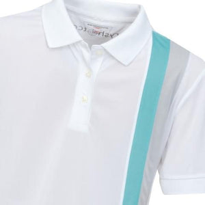 Girls' Golf Polo Shirts Bobbi Striped Polo Shirt White - everyshotcounts