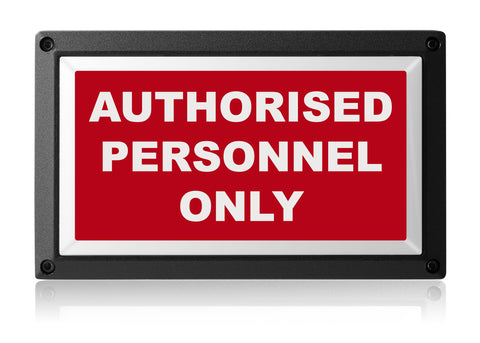 AUTHORISED PERSONNEL ONLY LIGHT from Rekall Dynamics