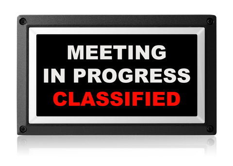 MEETING IN PROGRESS CLASSIFIED LIGHT from Rekall Dynamics
