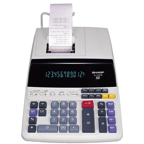 Sharp Electronics EL-1197PIII 12-Digit Commercial Printing Calculator