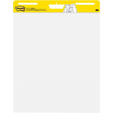 3M Self-Stick Plain White Paper Easel Pads