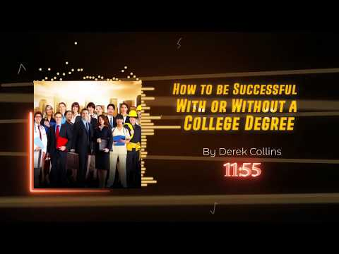 How to be Successful With or Without a College Degree MP4 Visual Audio book