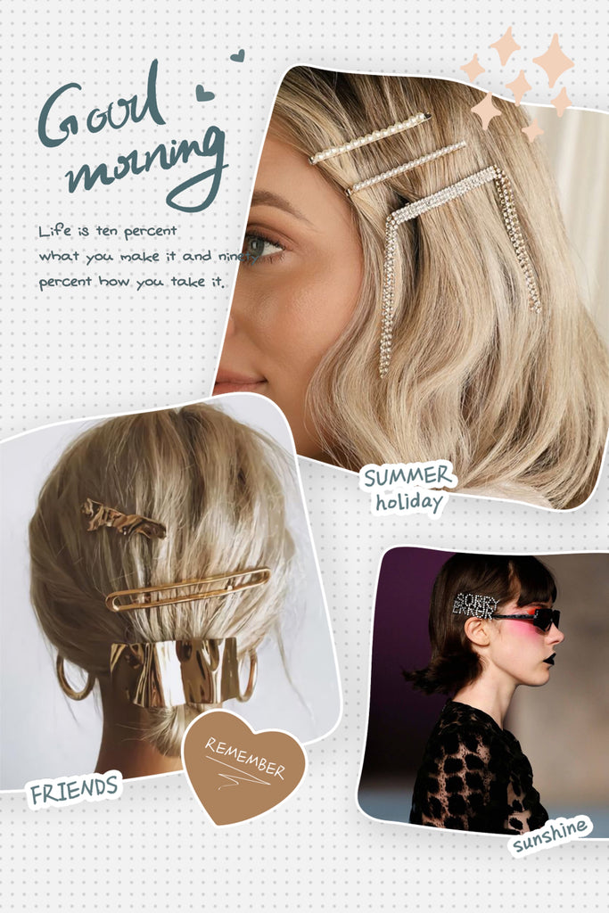 "For funky and age-reducing, try ""retro hairpins"""