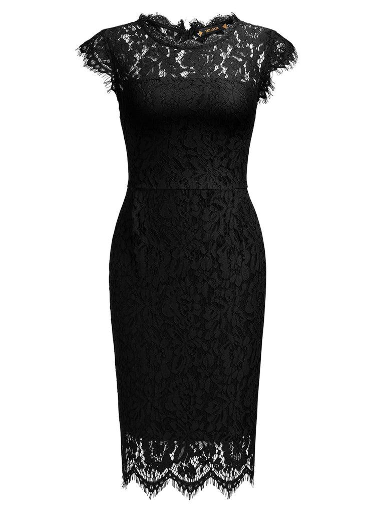 Retro Lace Slim Mini Dress - Aisize - New Vintage Simplified Design