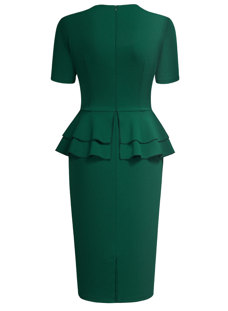Vintage Ruffles Cocktail Pencil Dress - Aisize - New Vintage Simplified Design