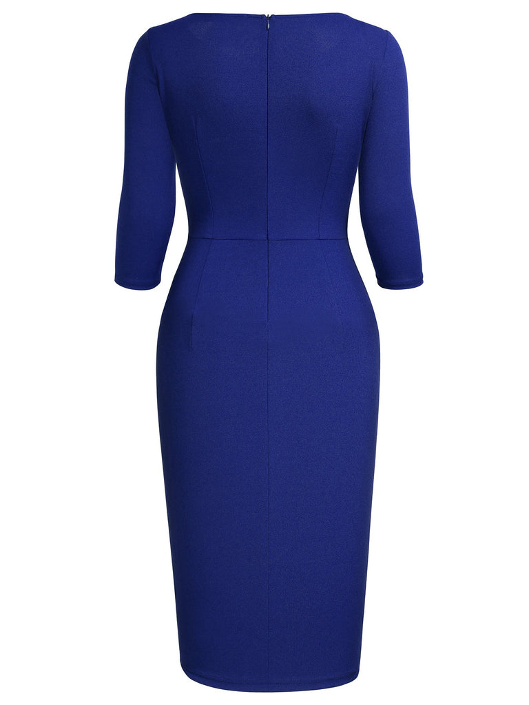 Ruffle Elegant Business Pencil Dress - Aisize - New Vintage Simplified Design