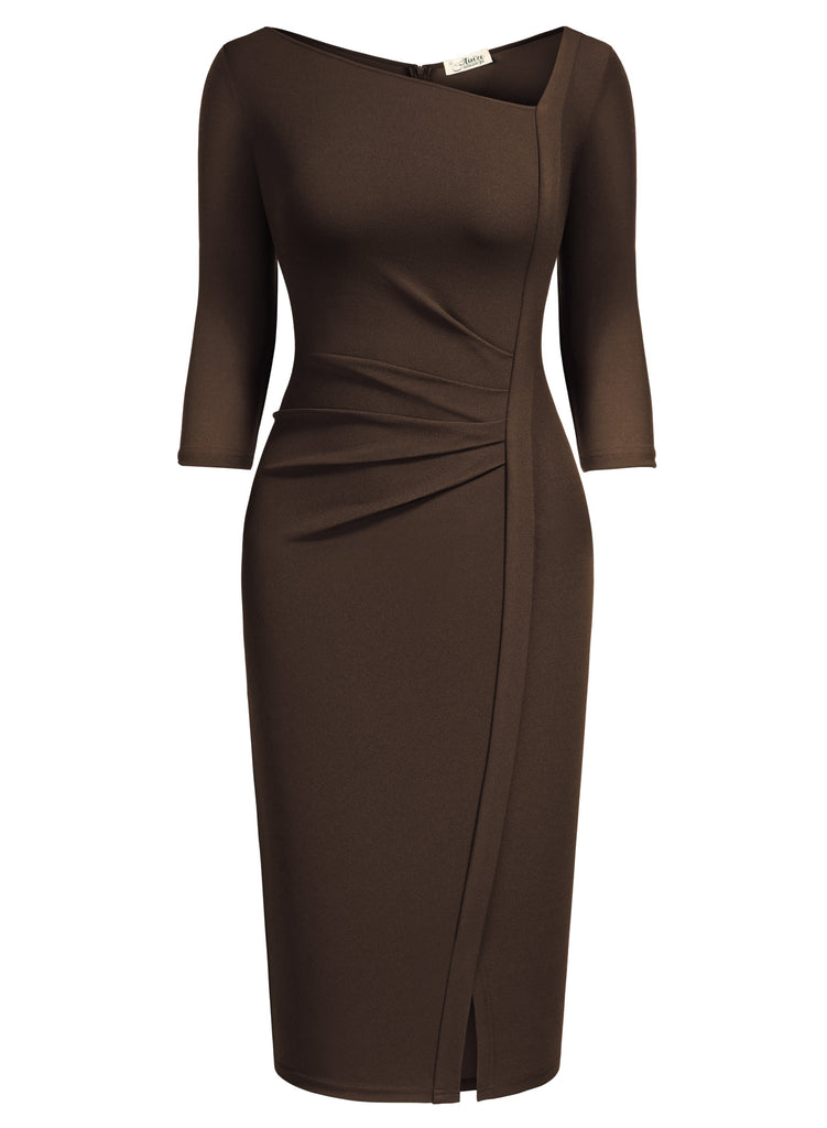 Stretch Business Wrap Bodycon - Aisize - New Vintage Simplified Design