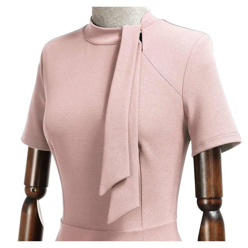 Tie Neck Ruffle Cocktail