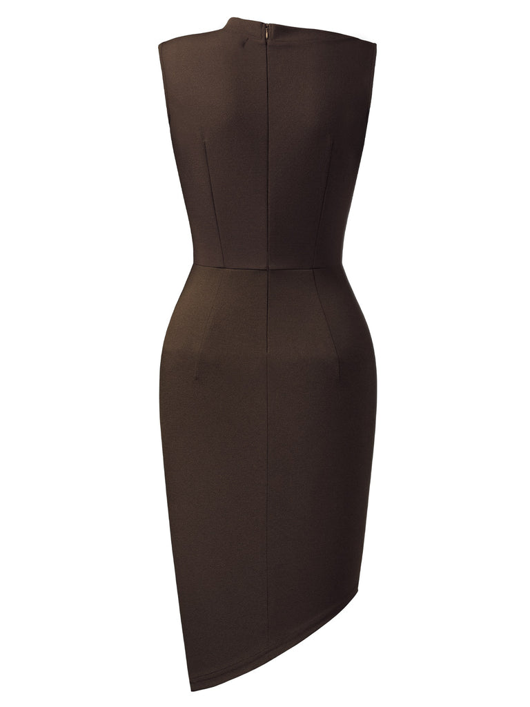 Sleeveless Pleated Pencil Dress - Aisize - New Vintage Simplified Design