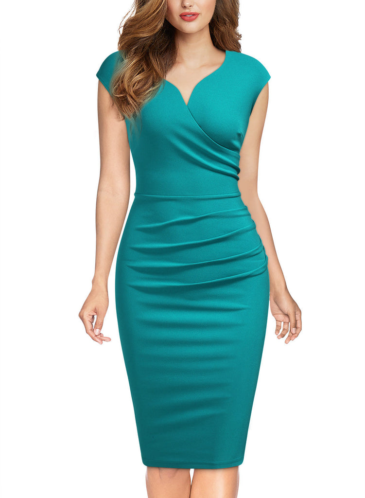 Slim Style Sleeveless Business Pencil Dress - Aisize - New Vintage Simplified Design