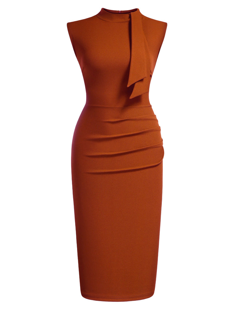 Half Collar Ruffle Pencil Dress - Aisize - New Vintage Simplified Design