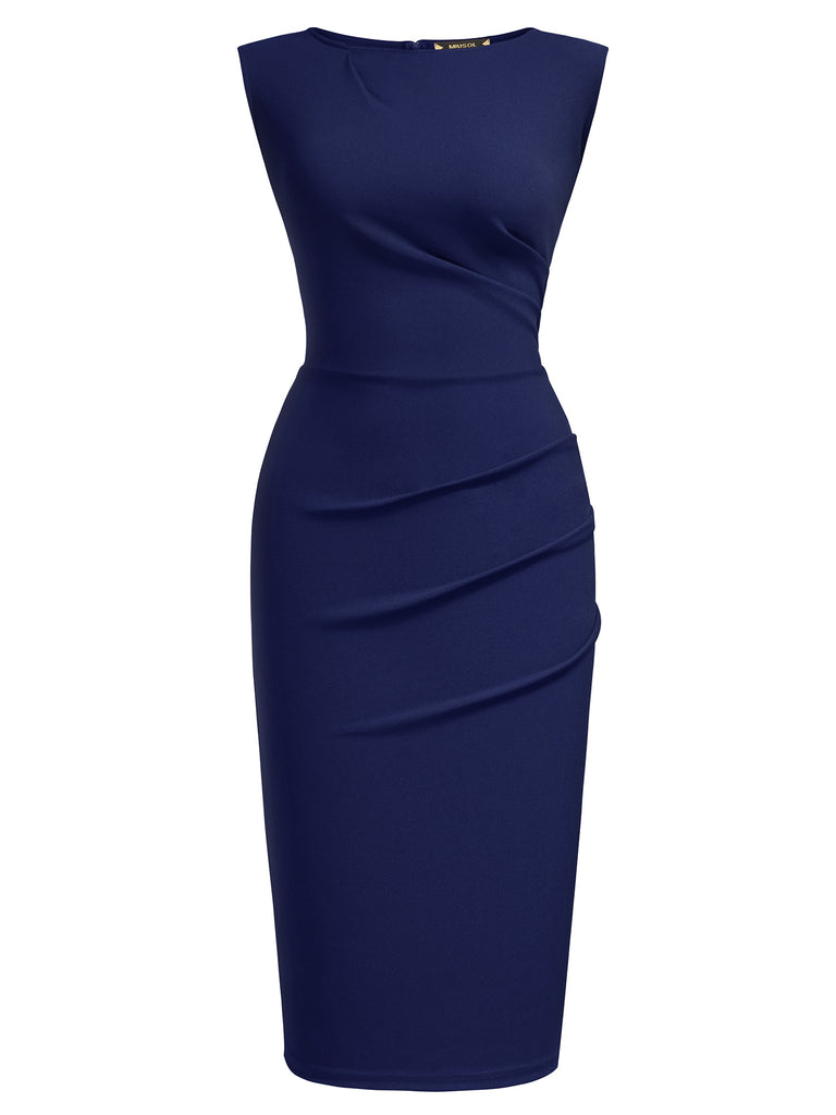 Ruffle Slim Work Pencil Dress - Aisize - New Vintage Simplified Design