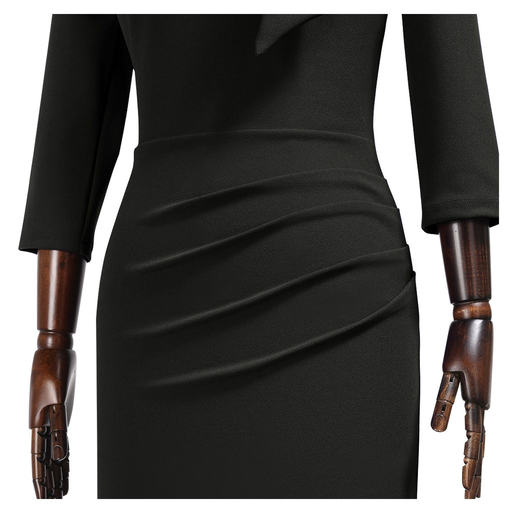 Tit Neckline Mid Sleeves Bodycon