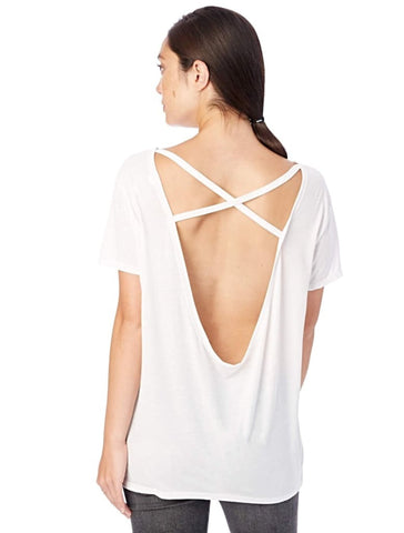 Cross Back T-Shirt - Harvest Beauty