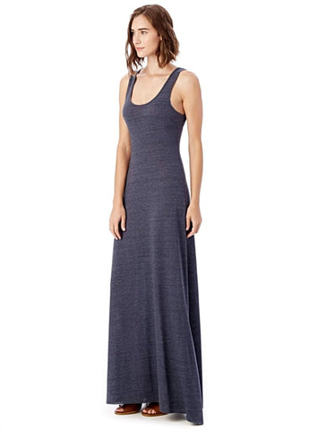 DOUBLE SCOOP TANK DRESS in True Navy - Harvest Beauty