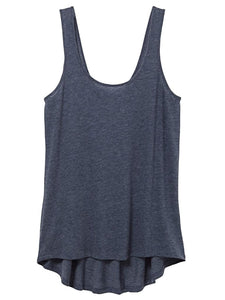 FLOAT ECO-GAUZE TANK TOP in Tidal Blue - Harvest Beauty