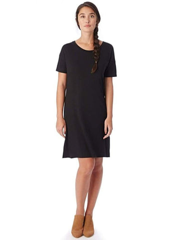 STRAIGHT UP T-SHIRT DRESS in Black - Harvest Beauty
