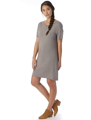STRAIGHT UP T-SHIRT DRESS in Nickle - Harvest Beauty