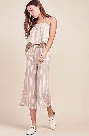 Stripe Cropped Pants - Harvest Beauty