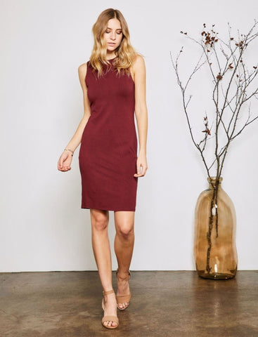 Sammi Dress in Auburn Red