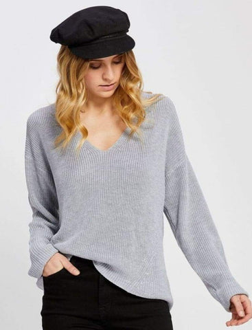 Tucker Sweater in Pewter Grey