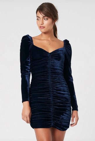 Neva Velvet Ruched Dress - Harvest Beauty