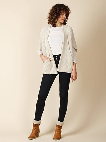 JACKET WITH BATWING SLEEVES