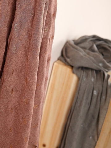 Scarf with Lurex Detail in Chocolate