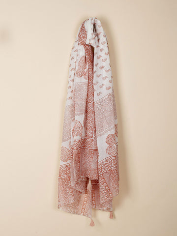 Vicente Ferrer Foundation Floral Printed Shawl