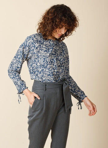 Indigo Printed Shirt - Harvest Beauty