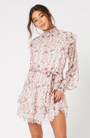Melanie Chiffon Mini Dress - Harvest Beauty