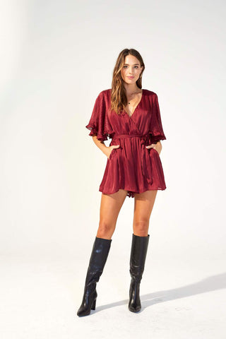 In The Moment Playsuit - Harvest Beauty