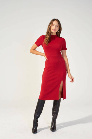 Knit Rib Midi Dress - Harvest Beauty