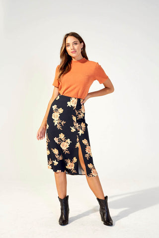 New Day Midi Skirt - Harvest Beauty