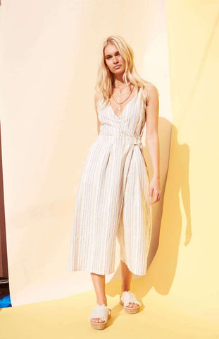Stripe Jumpsuit - Harvest Beauty