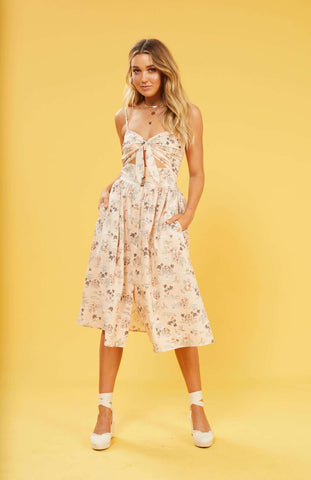 Tropical Tides Novelty Midi Dress