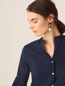 Shirt With Gathered Sleeves Blouses