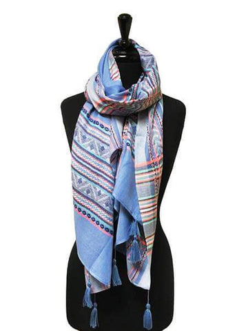 HARVEST BLUE SCARF - Harvest Beauty