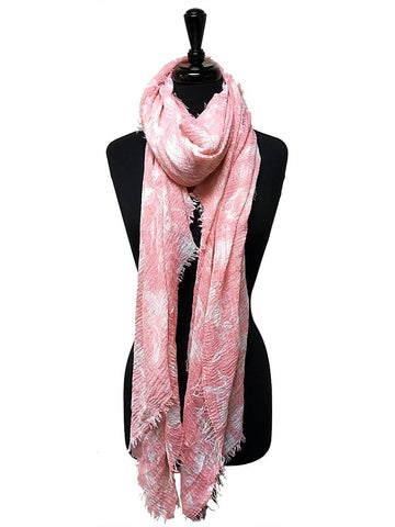 HARVEST SCARF LIGHTWEIGHT & SOFT WITH FLOWER PRINT IN PINK - Harvest Beauty